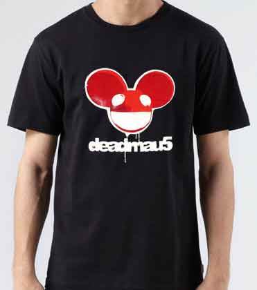 Deadmau5 Head Stencil T-Shirt
