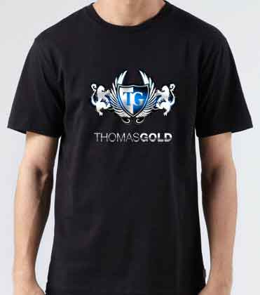 Thomas Gold Logo T-Shirt